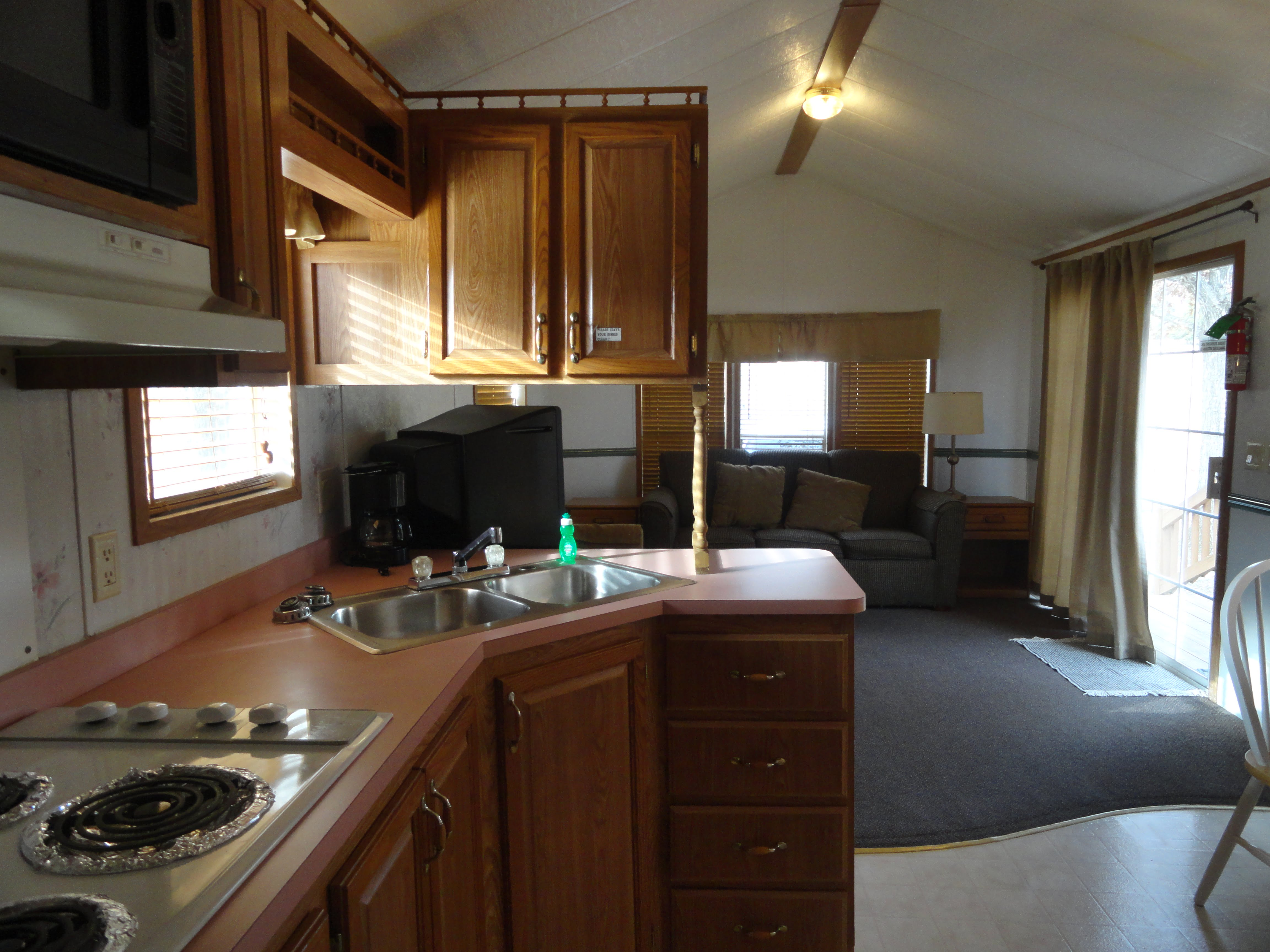 1 Bedroom Kit Living Room Treasure Lake Rv Resort
